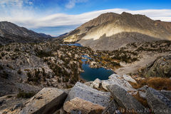 looking, down, little lakes valley, lenticular, inyo national forest, high sierra, sierra nevada