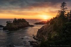 oregon, columbia river gorge, samuel boardman, sunset, warm, state park,