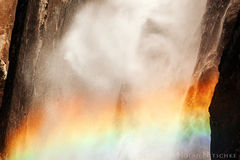 yosemite, national park, color, colorful, mists, falls, lower, rainbow