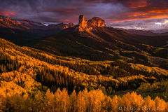 owl, creek, pass, chimney, rock, fall, color, sunset, color, colorado, Uncompahgre National Forest