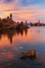 eastern sierra, california, tufa, mono lake, sunset