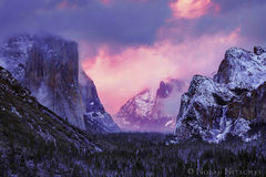yosemite, national park, storm, clearing, sunset, valley,