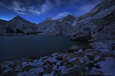 twilight, treasure, lakes, cloud, night, bear creek, spire, little lakes valley, high sierra, sierra nevada