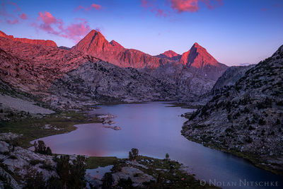 kings canyon, national park, evolution valley, evolution, sunset, lake, high sierra, sierra nevada