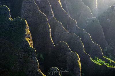 hawaii, na pali, coast, kauai, light, ridge