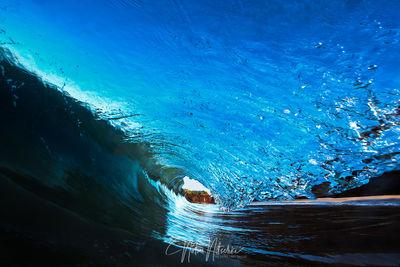 hawaii, wave, huge, barrel, makena, beach, maui