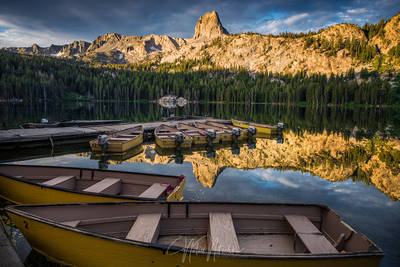 mammoth lakes, lake, george, basin, crystal crag, california, boat, docks