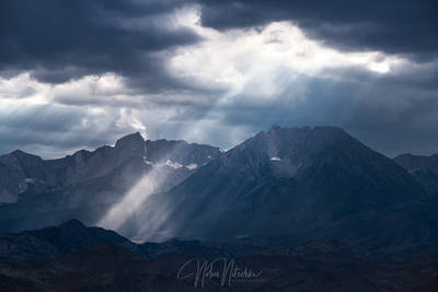 beaming, beams, owens valley, california, humphreys, basin, light