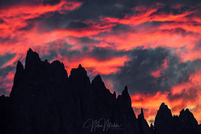 mammoth lakes, california, minaret, jagged, sunset
