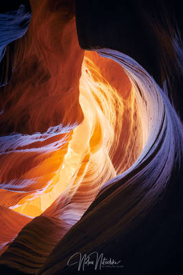 page, arizona, sandstone, navajo, dragon, lair, light, slot, canyon