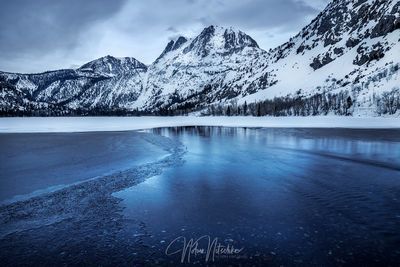 silver lake, blue, june lake, loop, california, thaw, winter