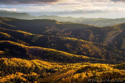 layers, ridges, apsen, color, owl creek pass, uncompahgre, national forest, , colorado, Uncompahgre National Forest