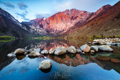 mammoth, lakes, california, convict, lake, sunrise