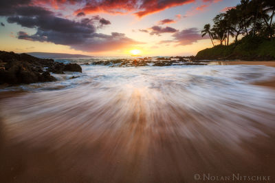 sun, molikini, crater, secret, beach, maui, island