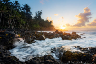 sunrise, sun, kalapana, big island, coastline, hawaii