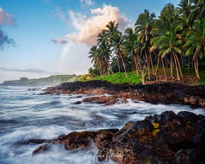 hawaii, kalapana, big, island, coastline, rainbow, coast
