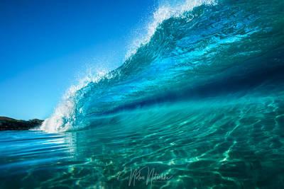 hawaii, blue, water, crahing, wave, kua, bay, big, island, surf