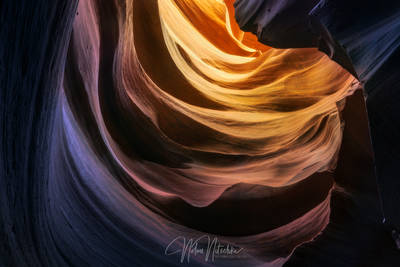 page, arizona, sandstone, navajo, dragon, lair, light, slot, canyon, antelope