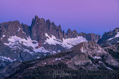 mammoth lakes, california, minaret, twilight, jagged