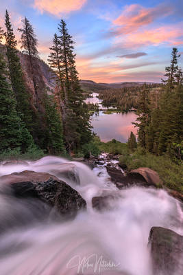 mammoth lakes, california, twin lakes, sunset, basin
