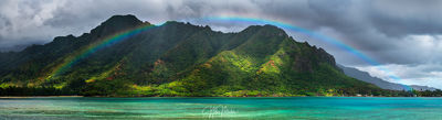 hawaii, kahana, bay, oahu, rainbow,