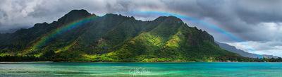 Oahu Rainbow Panorama