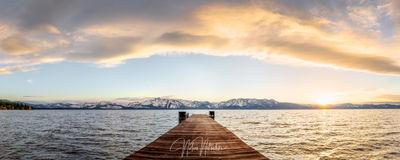 lake, tahoe, nevada, pier, sunset, panorama, sierra, sierra nevada,