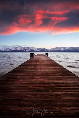 Lake Tahoe Pier Sunset