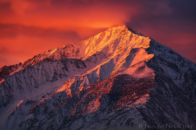 mt, tom, sunrise, owens valley, eastern sierra, california