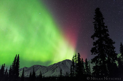 broad, pass, aurora borealis, aurora, northern lights, alaska