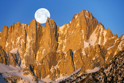 Mt. Whitney Moonset