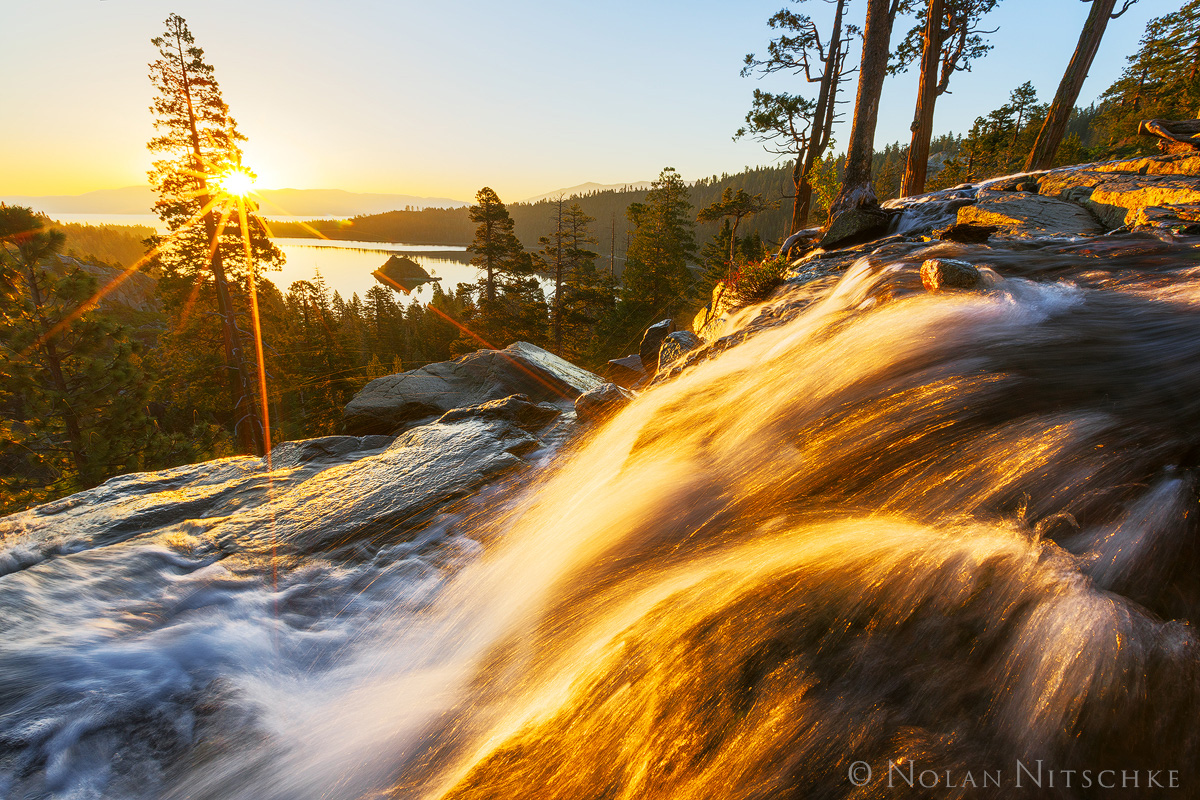 eagle falls, emerald bay, sunrise, lake, tahoe, south, california