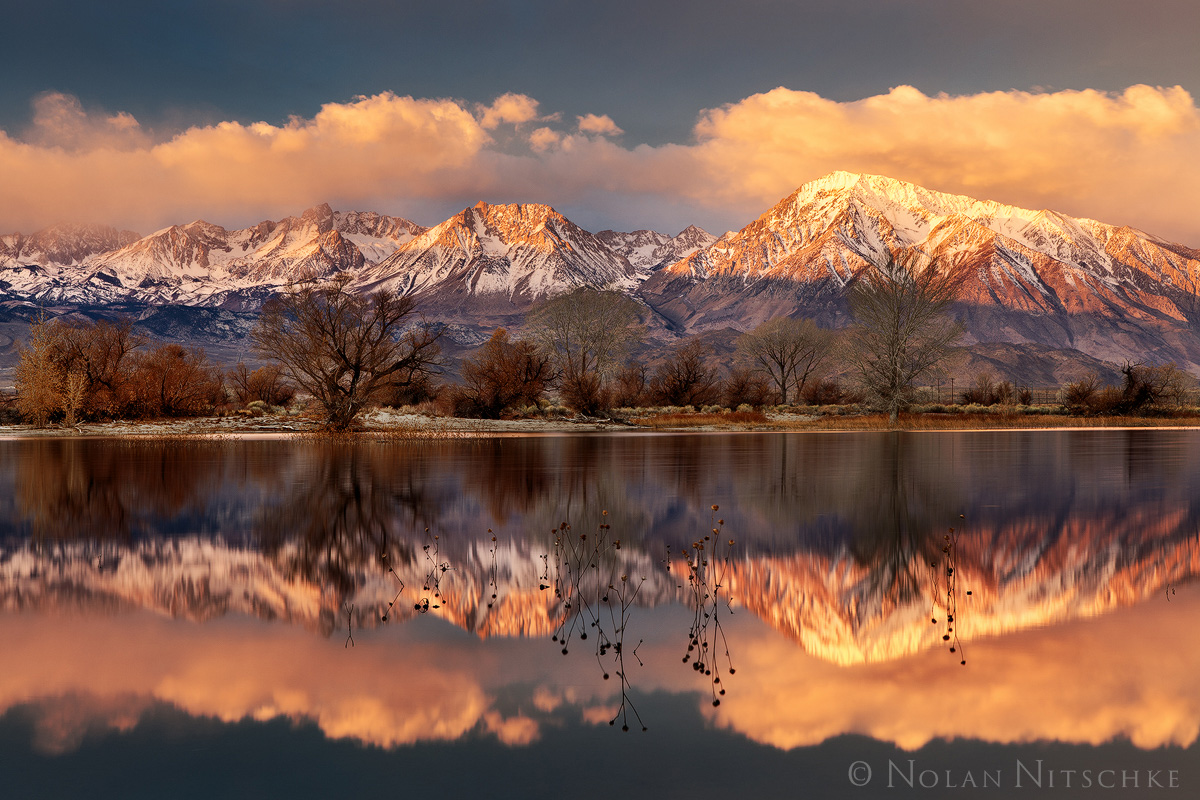 storm, epic, skyline, bishop, tom, basin, humphreys, sunrise, reflection, owens valley