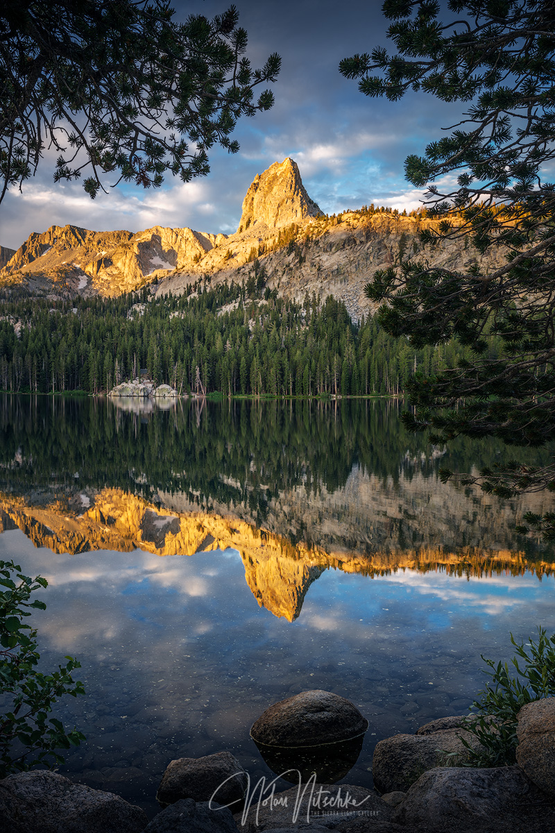 mammoth lakes, lake, george, basin, crystal crag, california, photo