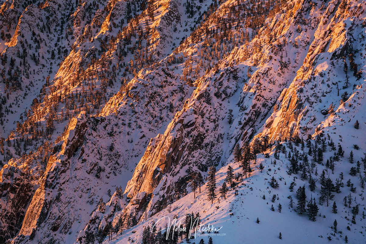 Early morning light bathing the cliffs of Wheeler Crest on a brisk winters morning.