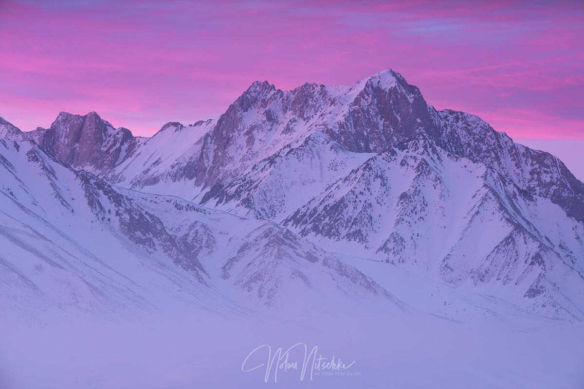 mammoth lakes, california, winter, morrison, sunrise, beautiful, photo
