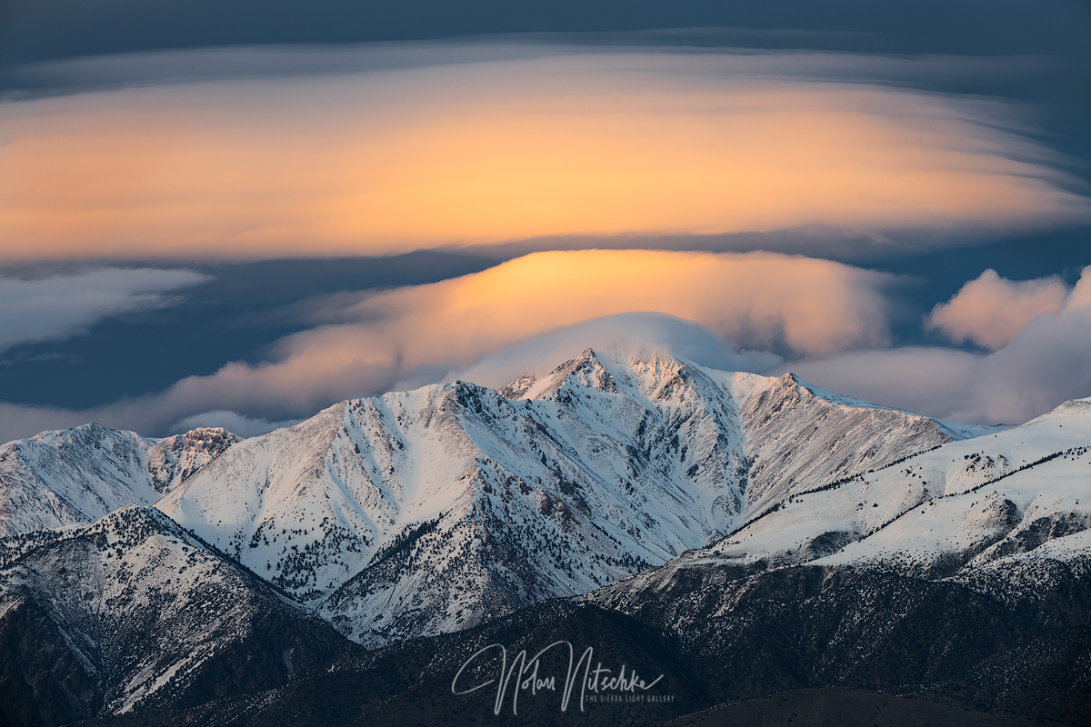 lenticular, cloud, owens valley, california, sun, white mountain, photo