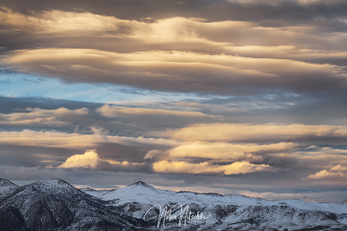 mammoth lakes, california, winter, cloud, glass mountain, susnet, photo
