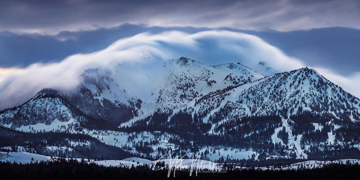 mammoth lakes, california, winter, mountain, storm, town, top, crawls, photo