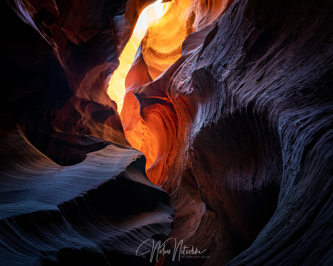 page, arizona, sandstone, navajo, dragon, lair, light, slot, canyon, photo
