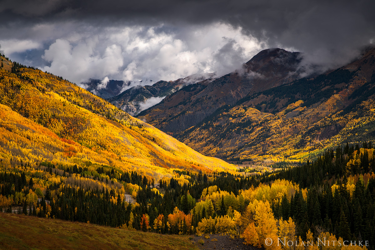 storm, ouray, color, fall, mountains, above, colorado, photo