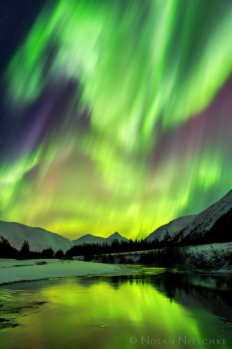 aurora borealis, aurora, northern lights, alaska, photo