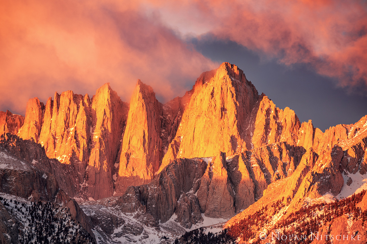 A truly epic sunrise on Mt. Whitney.
