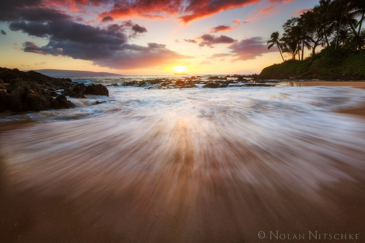 sun, molikini, crater, secret, beach, maui, island, photo