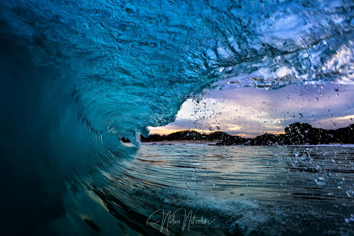 hawaii, kua, bay, waves, sunrise, big, island, photo