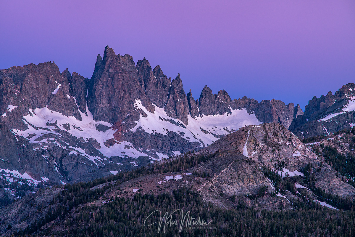 mammoth lakes, california, minaret, twilight, jagged, photo