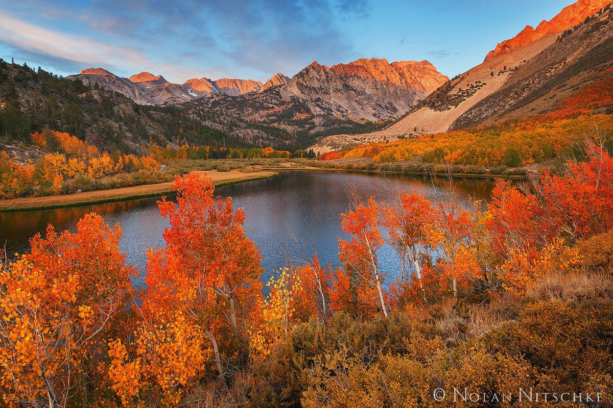 eastern sierra, california, north lake, sunrise, fall, color, sunrise, photo