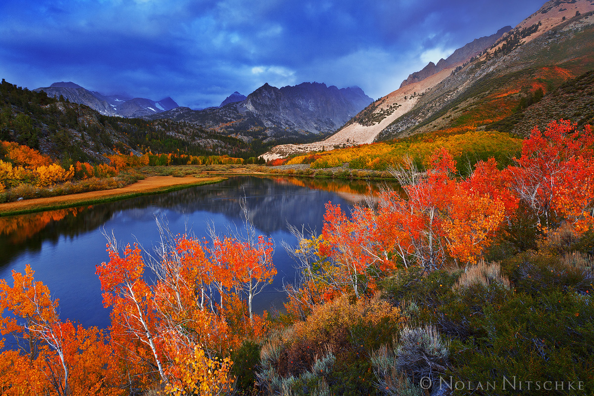 storm, north, lake, fall, color, peak, , eastern sierra, california, storm