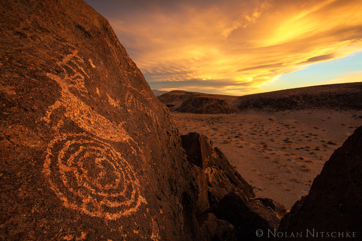 petroglyphs, petro, art, rock, owens valley, sierra, wave, sunset, eastern sierra, california, photo