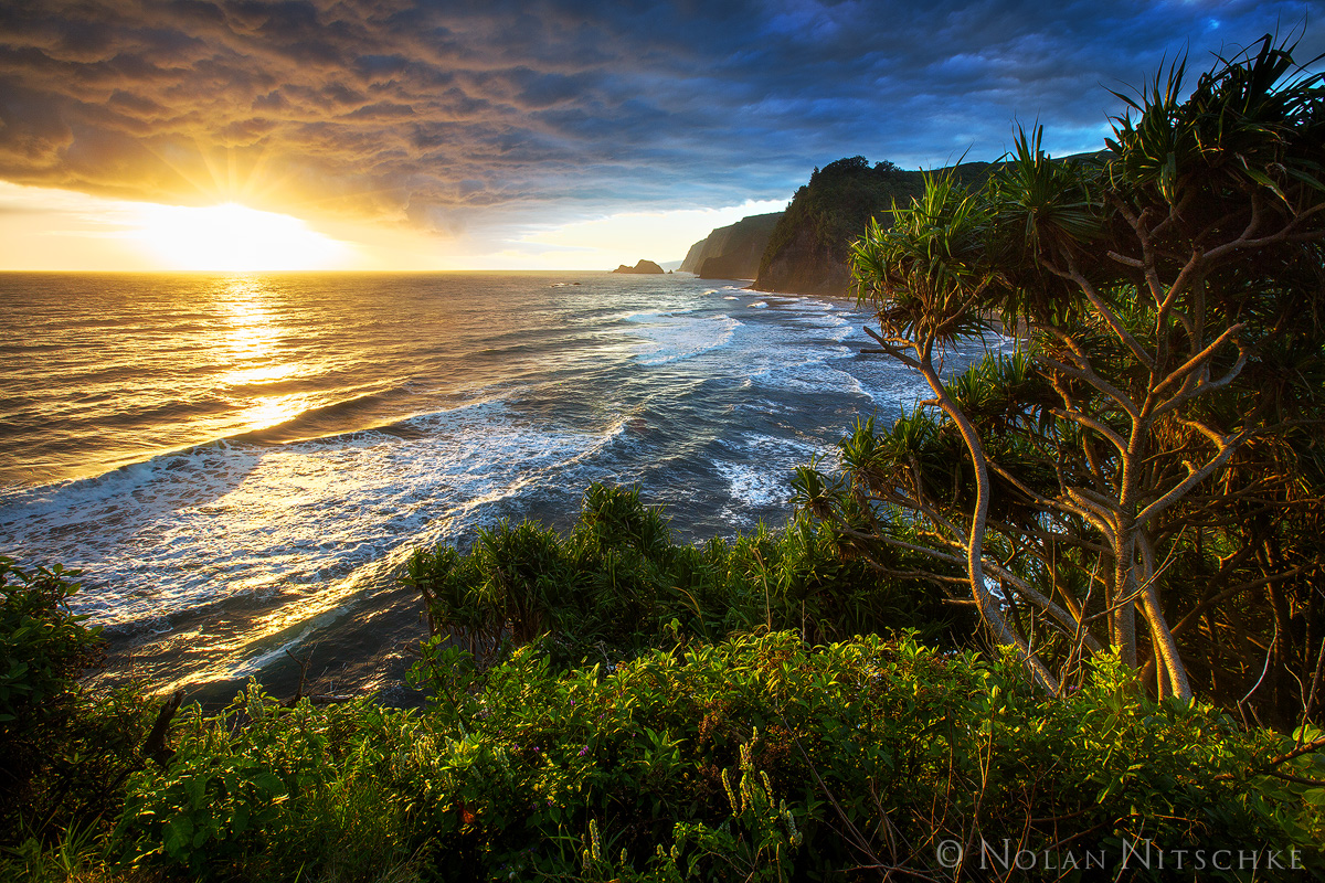 pololu, sunrise, big island, valley, , hawaii, photo